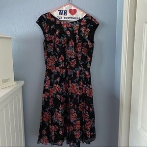 Black and pink floral dress for all occasions!